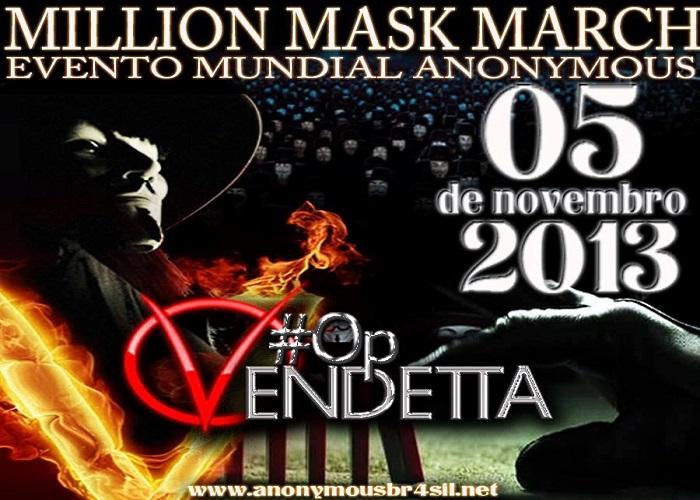 Anonymous anuncia ataque na internet para o dia 5 de novembro